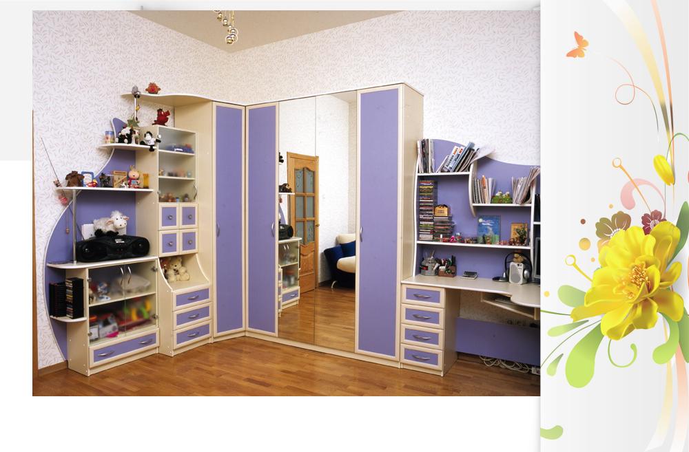 Встроенная кровать в детскую комнату купить недорого в киеве.